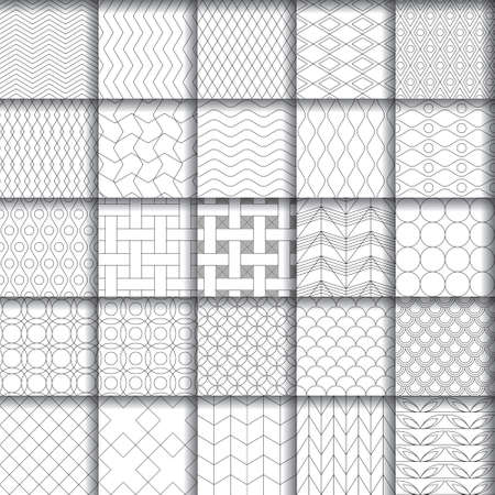 Collection of black and white patterns.