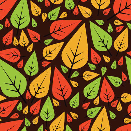 Colorful pattern with leaves.