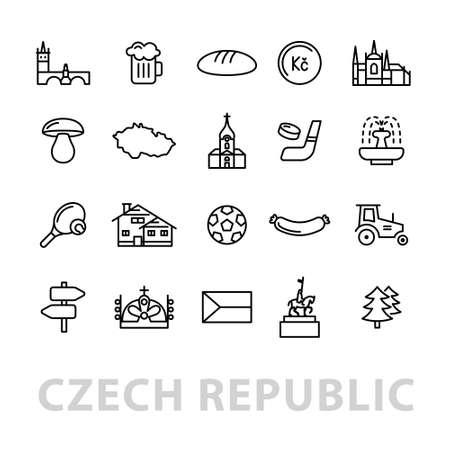 Twenty czech republic icons.