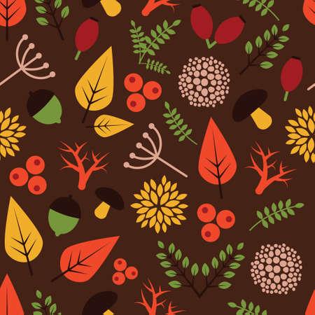 Pattern with autumn theme.