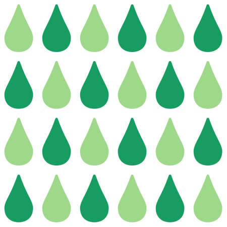 A seamless pattern with green drops