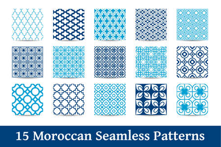 A collection of Moroccan patterns