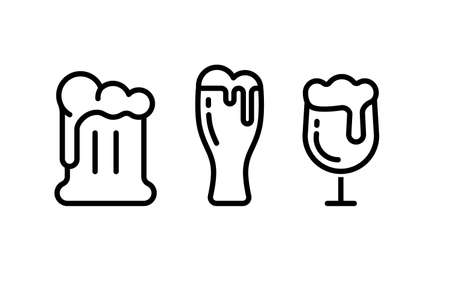 beer vector icons collection Иллюстрация