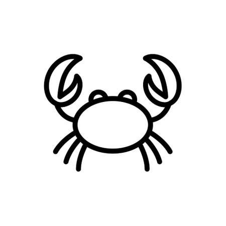 crab line vector icon Иллюстрация