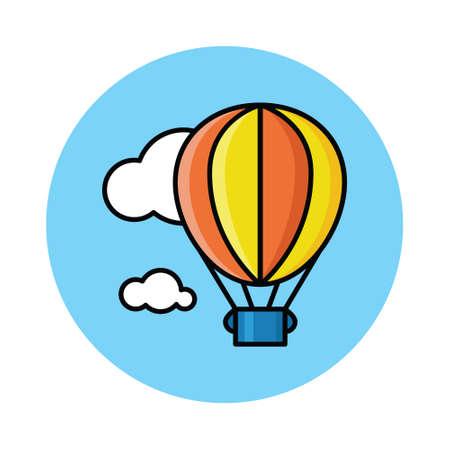 hot air baloon on the sky