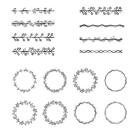 set of vector brushes Illusztráció