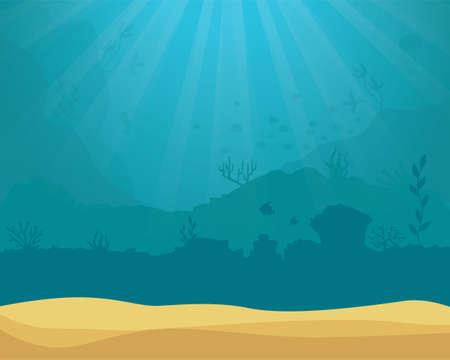 vector background - underwater ocean scene