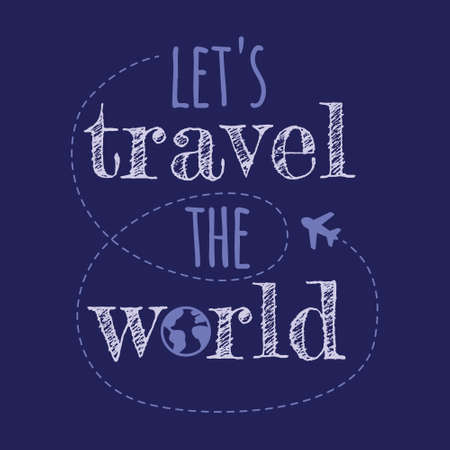 lets trawel the world quote 矢量图像