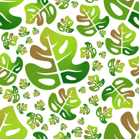 monstera colorful leaf seamless pattern