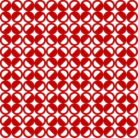 seamless pattern with red circles