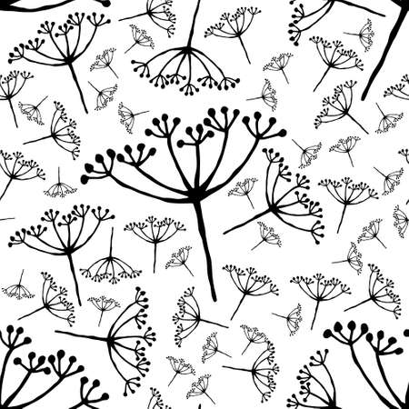 out of bloom caraway seamless pattern