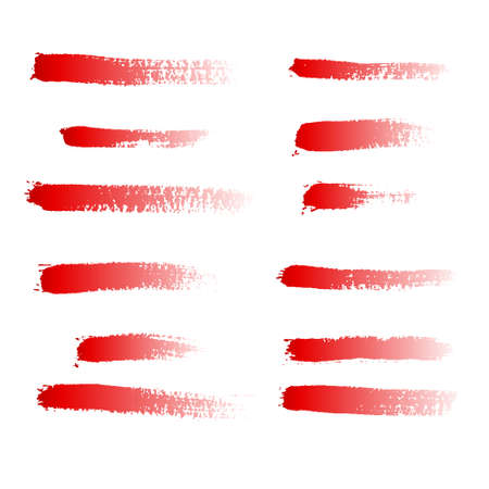 collection of red grunge brushes
