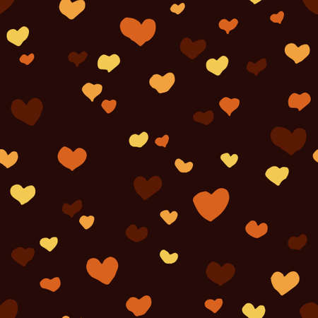seamless pattern with hearts and dark background