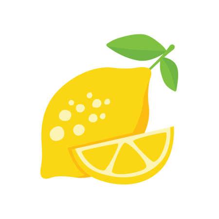 vector lemon on white background