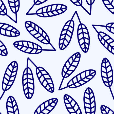 blue seamless pattern with blue flowers