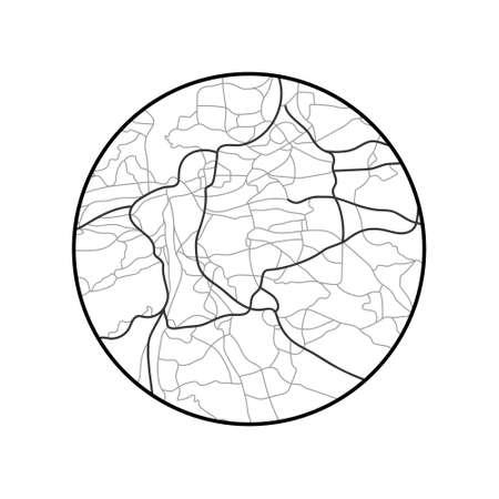 schematic map of Prague in circle