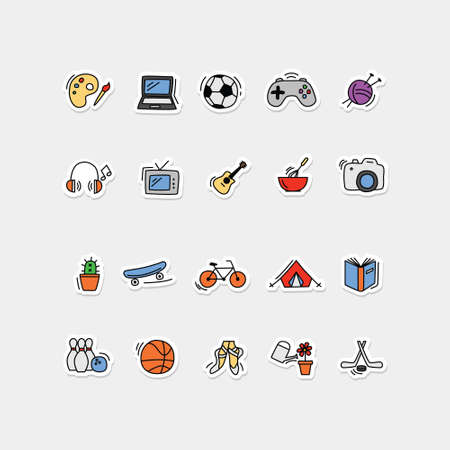 icons collection - fun ane games for kids 矢量图像