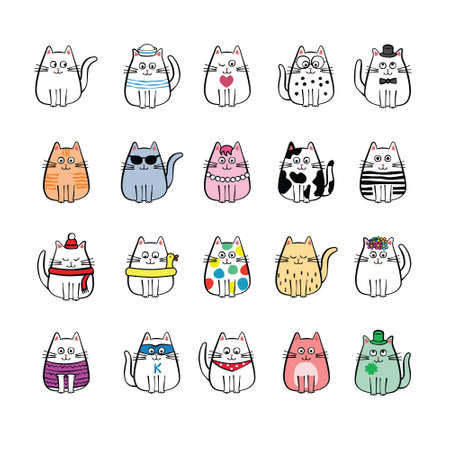 collection of twenty miscellaneous cats