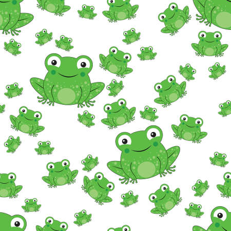 frog seamless pattern with white background Illustration