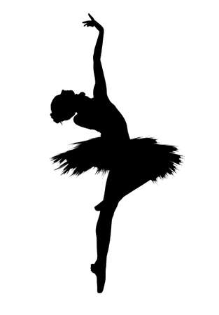 silhouette of a dancing person
