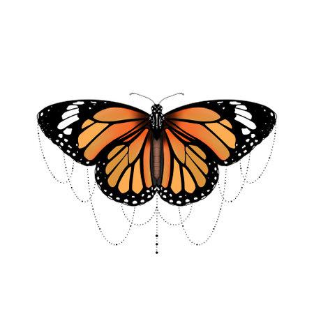 female butterfly tattoo design