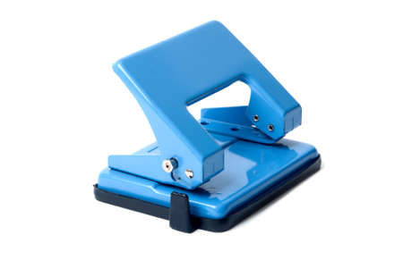 Blue hole puncher on a white background