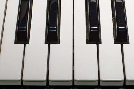 Composition of piano keys Stock Photo