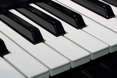 clavier: Composition of piano keys Stock Photo
