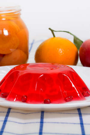 compote: Sweet breakfast from jelly fruits and compote