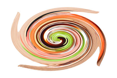 Color  psychedelic spiral. Background pattern Stock Photo