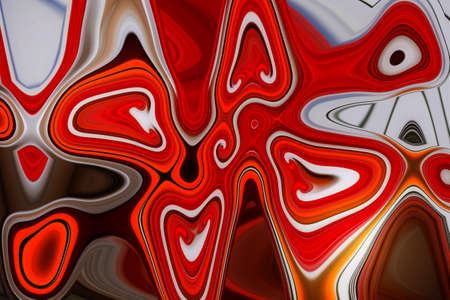 red background from surreal phantasmagorias and unusual images Stock Photo