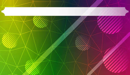 Futuristic Technology Style With Geometric Design, Shapes. Triangles, line, circle. For Business Presentation Wallpaper, Flyer, Cover. Vector Illustration with Color Gradient Çizim