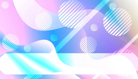 Abstract Shiny Waves, Lines, Circle, Space for Text. For Your Design Ad, Banner, Cover Page. Vector Illustration with Color Gradient Illustration