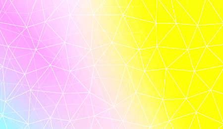 Modern elegant background with polygonal pattern with triangles elements. For interior wallpaper, smart design, fashion print. Vector illustration. Creative gradient color Illustration
