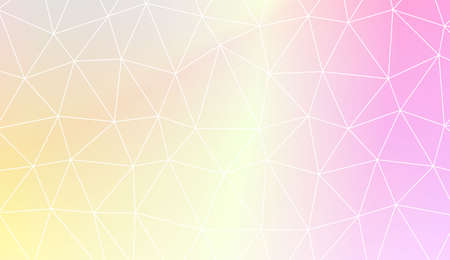 Modern geometrical abstract background with polygonal elements For interior wallpaper, smart design, fashion print. Vector illustration. Creative gradient color