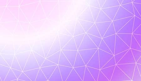 Low poly layout. Decorative design For interior wallpaper, smart design, fashion print. Vector illustration. Creative gradient color. Иллюстрация
