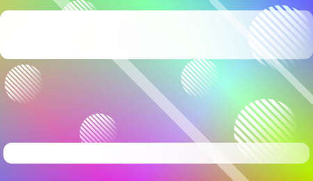 Abstract Shiny Moderns, Lines, Circle, Space for Text. For Cover Page, Landing Page, Banner. Vector Illustration with Color Gradient