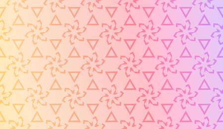 Smart background with decorative geometric layot. Vector illustration. Gradient color. Ilustração
