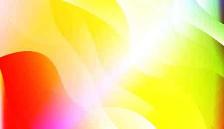 Wavy Background. For Flyer, Brochure, Booklet And Websites Design Vector Illustration with Color Gradient Иллюстрация