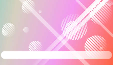Colorful Gradient Color Background with Line, Circle. Wallpaper. For Your Design Ad, Banner, Cover Page. Vector Illustration Çizim