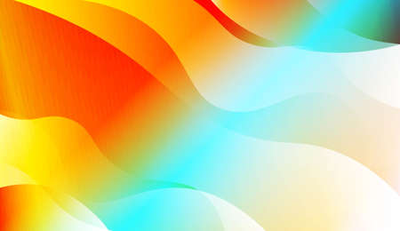 Blurred Decorative Design In Abstract Style With Wave, Curve Lines. For Design, Presentation, Business. Vector Illustration with Color Gradient