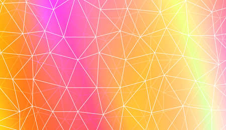 Decorative background with triangles, line. Template for your banner. Vector illustration. Creative gradient color  イラスト・ベクター素材
