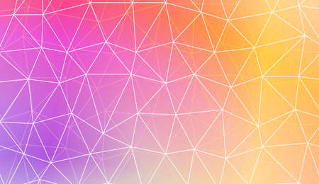 Modern elegant background with polygonal pattern with triangles elements. For interior wallpaper, smart design, fashion print. Vector illustration. Creative gradient color 矢量图像