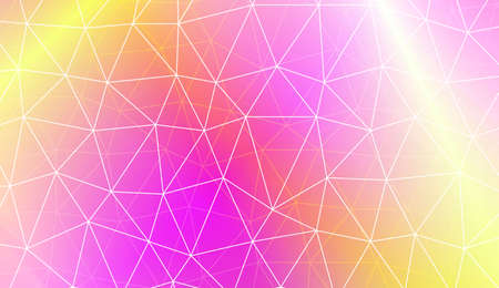 Modern geometrical abstract background with polygonal pattern with triangles elements Template for wallpaper, interior design, decoration, scrapbooking page. Vector illustration. Gradient color Banco de Imagens - 123375246
