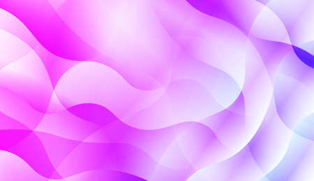 Wavy Background with Lines. Design For Your Header Page, Ad, Poster, Banner. Vector Illustration with Color Gradient Illustration