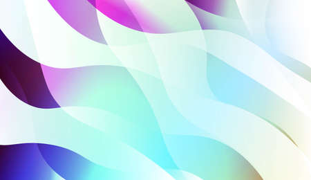 Abstract Geometric Wave Shape with Gradient Soft Colorful Background. For Your Design Wallpaper, Presentation, Banner, Flyer, Cover Page, Landing Page. Vector Illustration