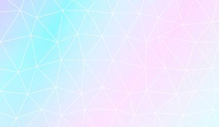 Polygonal pattern with triangles mosaic cover. Template for your banner. Vector illustration. Creative gradient color