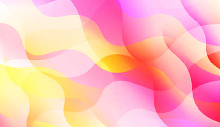 Template Abstract Background With Curves Lines, Wave Shape. Modern Screen Gradient Design. For Greeting Card, Flyer, Poster, Brochure, Banner Calendar. Vector Illustration