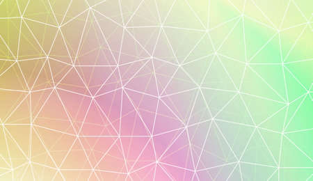 Polygonal pattern with triangles mosaic cover. For your wallpaper, advert, banner, poster. Vector illustration. Creative gradient color Illustration