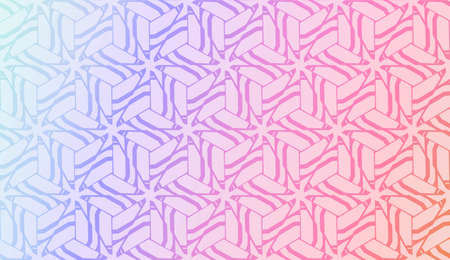 Geometric pattern with Blur Sweet Dreamy Gradient Color Background. For Your Graphic Invitation Card, Poster, Brochure. Vector Illustration 矢量图像